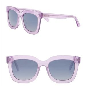 DIFF Carson Square 55mm Acetate Sunglasses